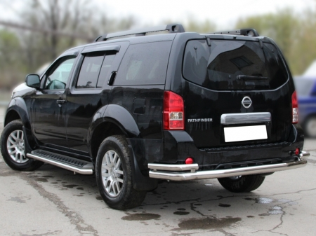 "Nissan Pathfinder 2005-2009г.в.-Защита заднего бампера ""волна"" d-76+53"